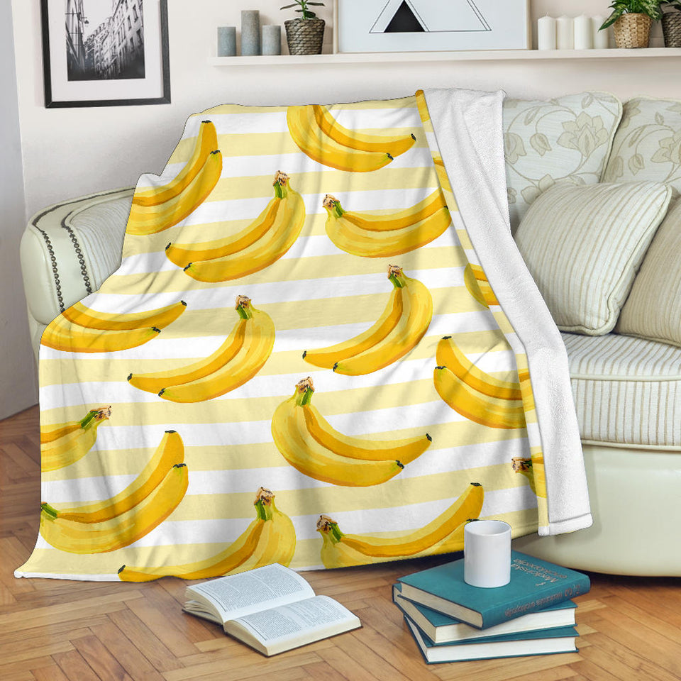 Banana Pattern Blackground Premium Blanket