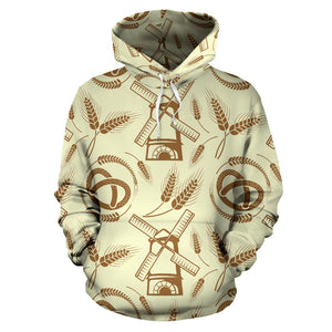 Windmill Wheat pattern Pullover Hoodie