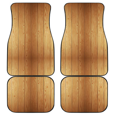 Wood Printed Pattern Print Design 05 Front and Back Car Mats