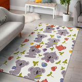 Cute koalas teapots tea Area Rug