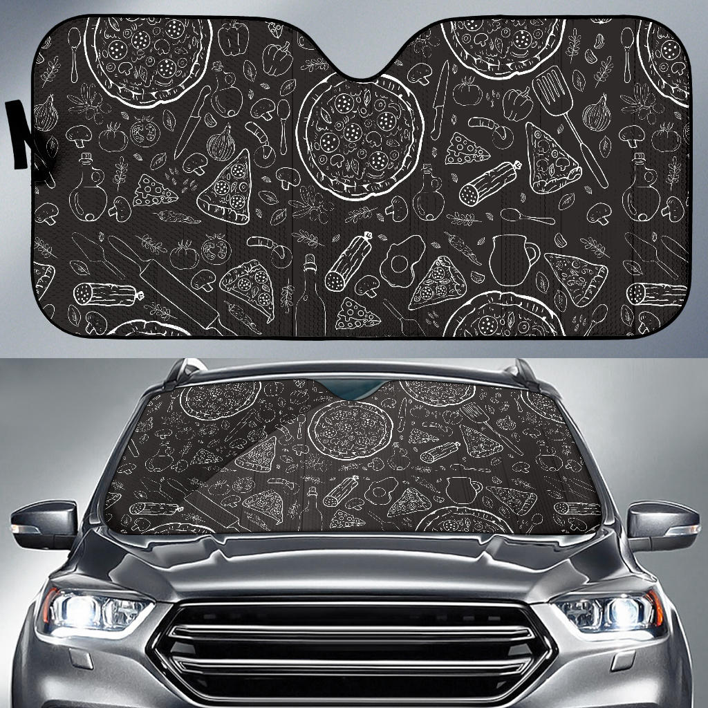 Pizza Pattern  Car Sun Shade