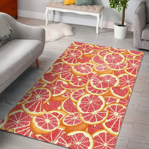Tropical grapefruit pattern Area Rug