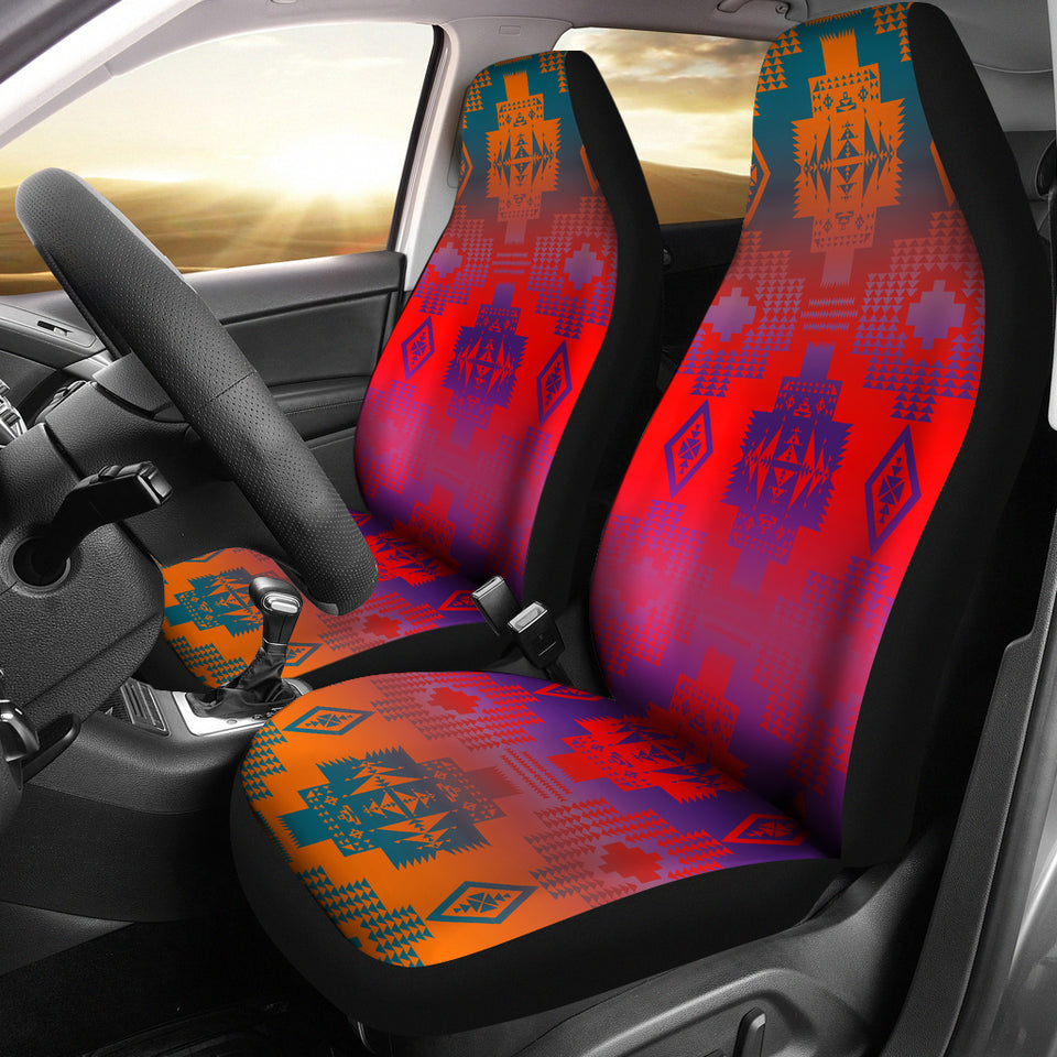 Purple Thunderstorm Car Seat Covers