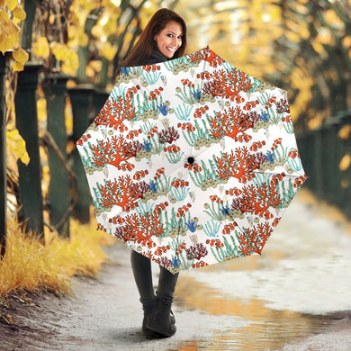 Clown Fish Pattern Print Design 04 Umbrella