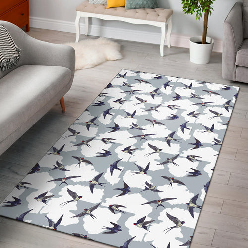 Swallow Pattern Print Design 05 Area Rug