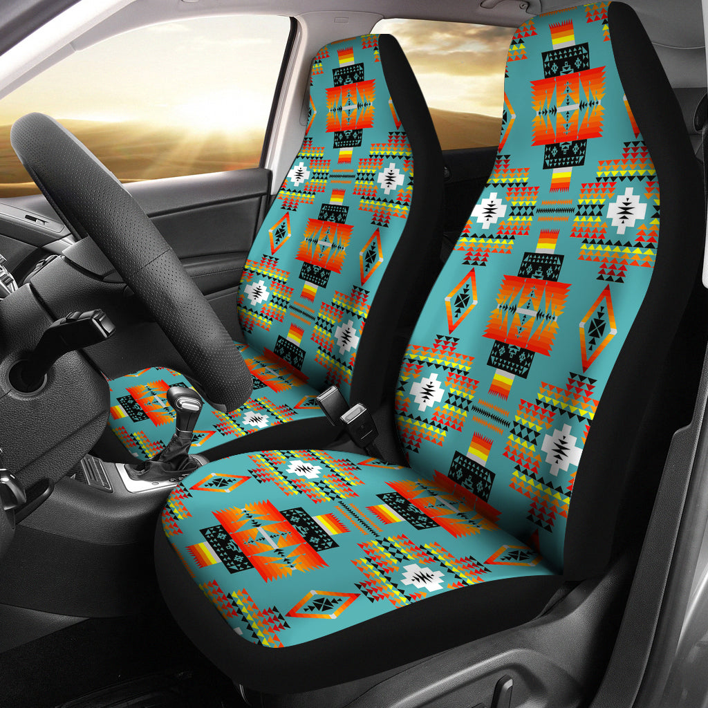 Seven Tribes Teal Car Seat Covers