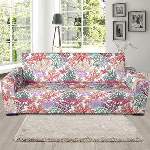 Coral Reef Pattern Print Design 03 Sofa Slipcover