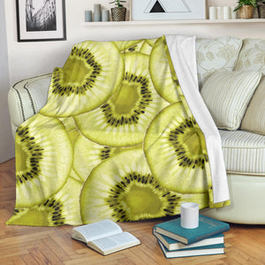 Sliced kiwi pattern Premium Blanket