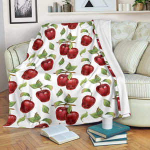 Red apples pattern Premium Blanket