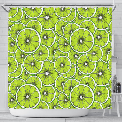 Slices of Lime design pattern Shower Curtain