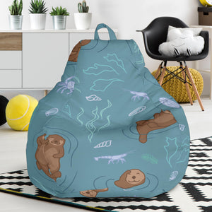 Sea otters pattern Bean Bag Chair