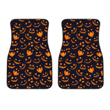 Halloween Pattern Pumpkin Background Front Car Mats