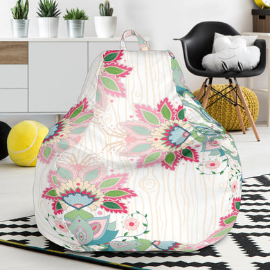 Square floral indian flower pattern Bean Bag Chair