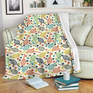 Tennis Pattern Print Design 03 Premium Blanket