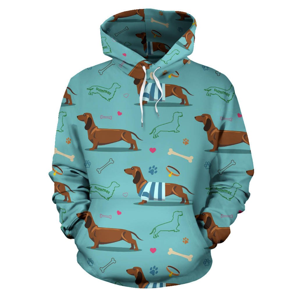 Dachshund decorative background Pullover Hoodie