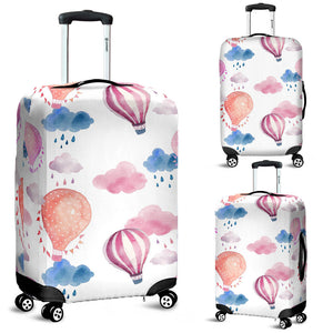 Watercolor air balloon cloud pattern Luggage Covers