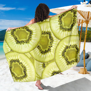 Sliced kiwi pattern Sarong