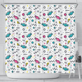 Candy Design Pattern Shower Curtain Fulfilled In US
