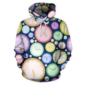 Colorful clock background Men Women Pullover Hoodie