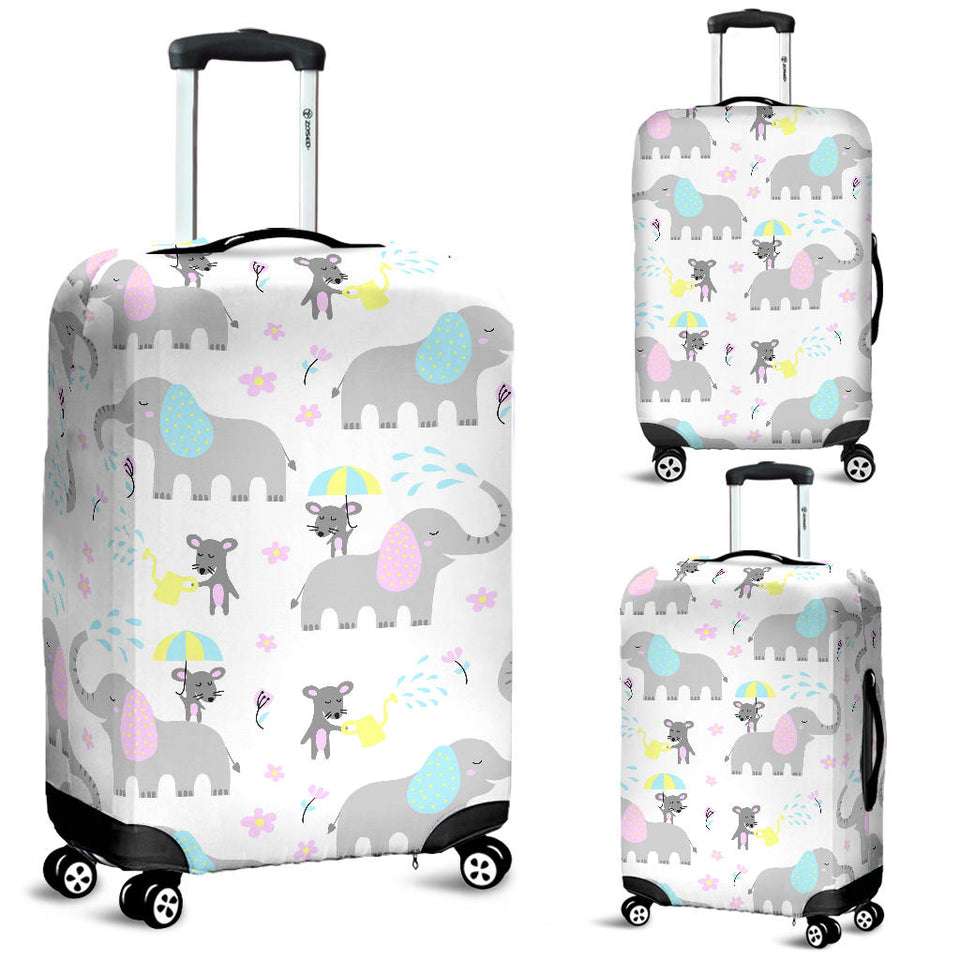 Cute elephant mouse pattern Luggage Covers