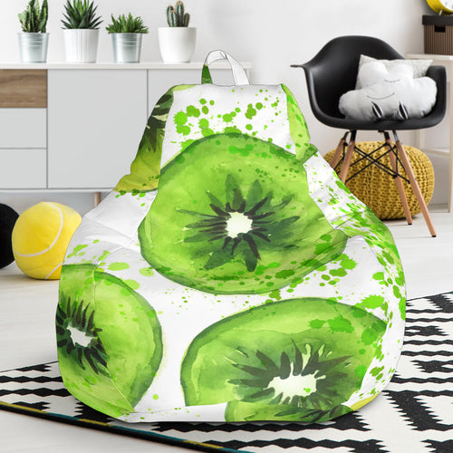 Watercolor kiwi pattern Bean Bag Chair