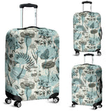 Dragonfly Butterfly Plants insect flower vintage style pattern Luggage Covers