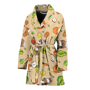 Guinea Pig Pattern Print Design 05 Women's Bathrobe