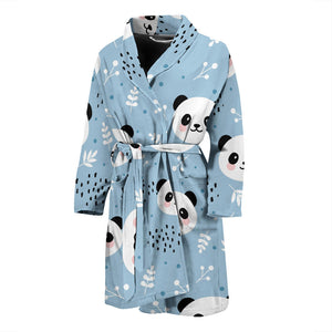 Cute Panda Pattern Men'S Bathrobe