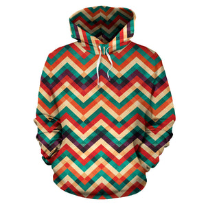 zigzag  chevron colorful pattern Men Women Pullover Hoodie