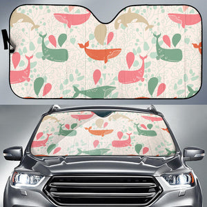 Cute Whale Pattern Car Sun Shade