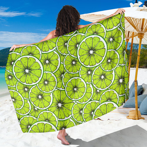 Slices of Lime design pattern Sarong