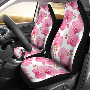 pink purple orchid pattern background Universal Fit Car Seat Covers
