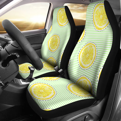 slice of lemon pattern Universal Fit Car Seat Covers