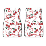 Hand Drawn Cherry Pattern  Front Car Mats