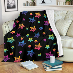 Colorful Star Pattern Premium Blanket