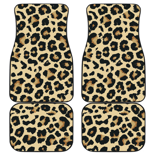 Leopard print design pattern Front and Back Car Mats