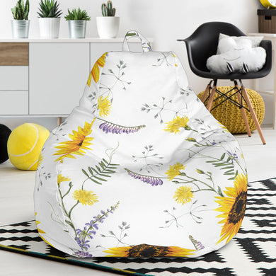 beautiful sunflowers pattern Bean Bag Chair