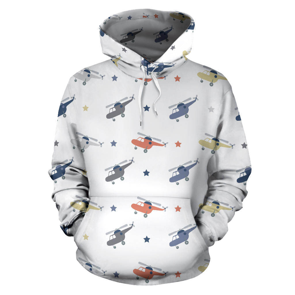 Cute helicopter star pattern Pullover Hoodie
