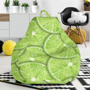 Slices of Lime pattern Bean Bag Chair