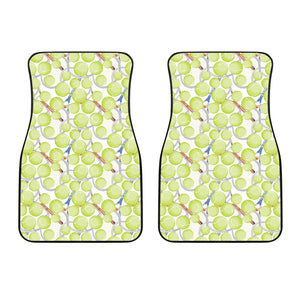 Tennis Pattern Print Design 01 Front Car Mats