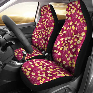 Popcorn Pattern Print Design 02 Universal Fit Car Seat Covers