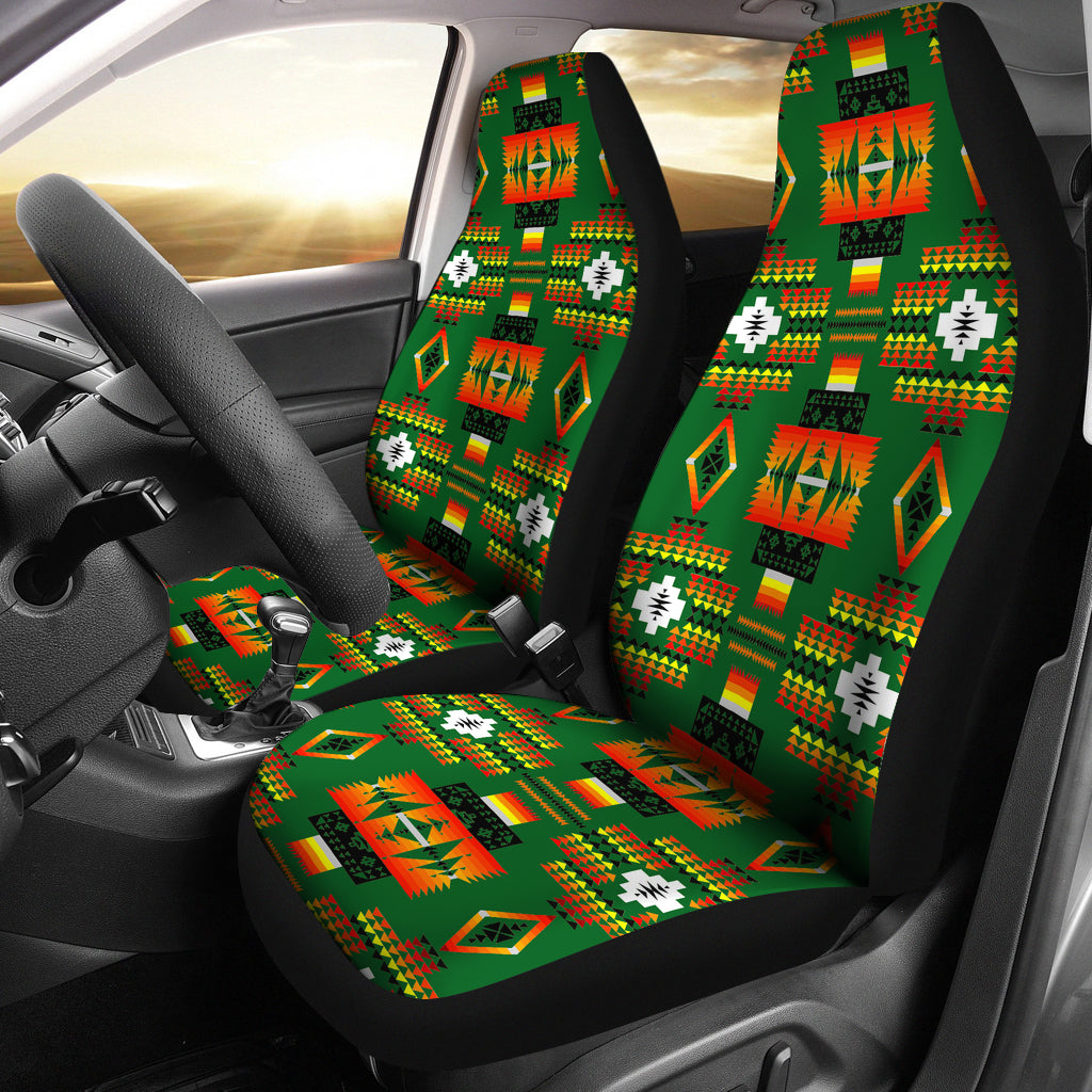 Seven Tribes Green Car Seat Covers
