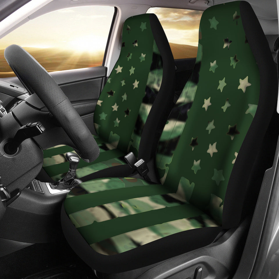 Camo Flag Car Seat Covers