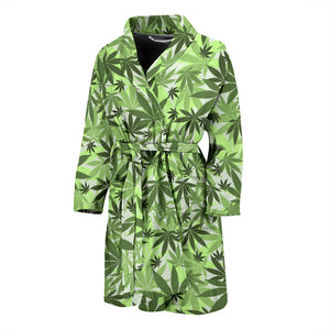 Canabis Marijuana Weed Pattern Print Design 01 Men's Bathrobe