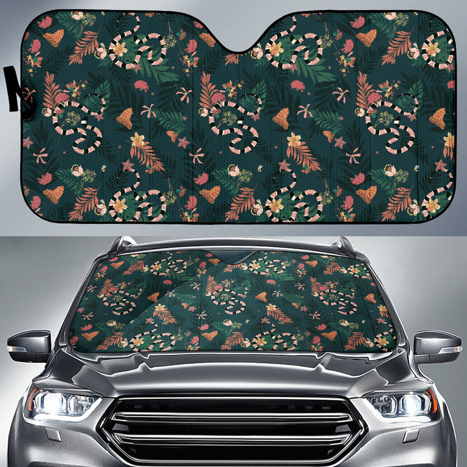 Snake Forest Pattern Car Sun Shade