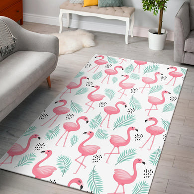 Cute flamingo pattern Area Rug