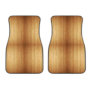 Wood Printed Pattern Print Design 05 Front Car Mats
