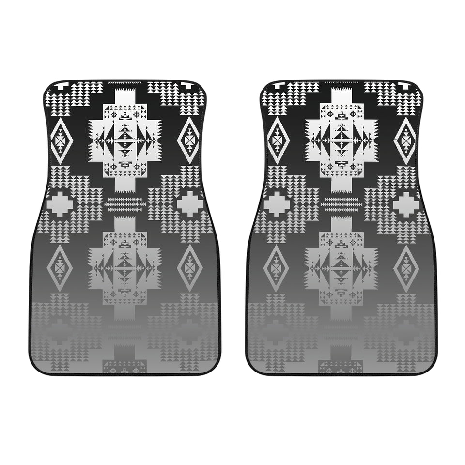 Black And White Treaty Front Car Mats (Set Of 2)