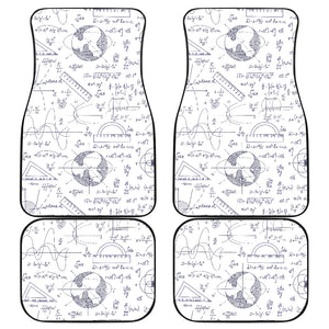 Math Pattern Print Design 03 Front and Back Car Mats