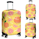 Grapefruit Yellow Background Luggage Covers